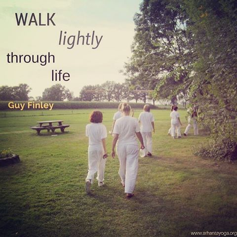 Note to self walk lightly through life quoteoftheday qotd walkhellip