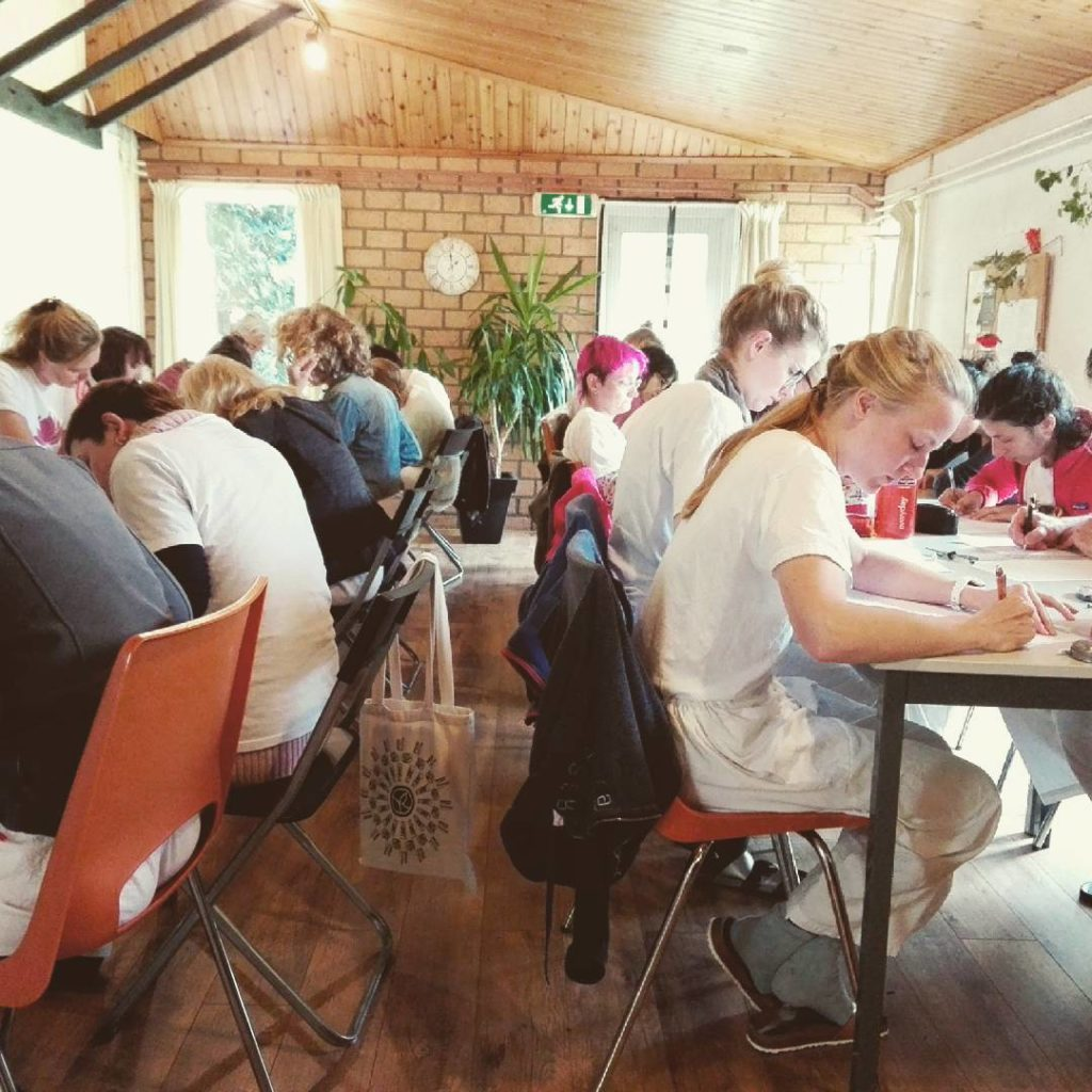 Exam time! The students studied hard on the yoga philosophyhellip